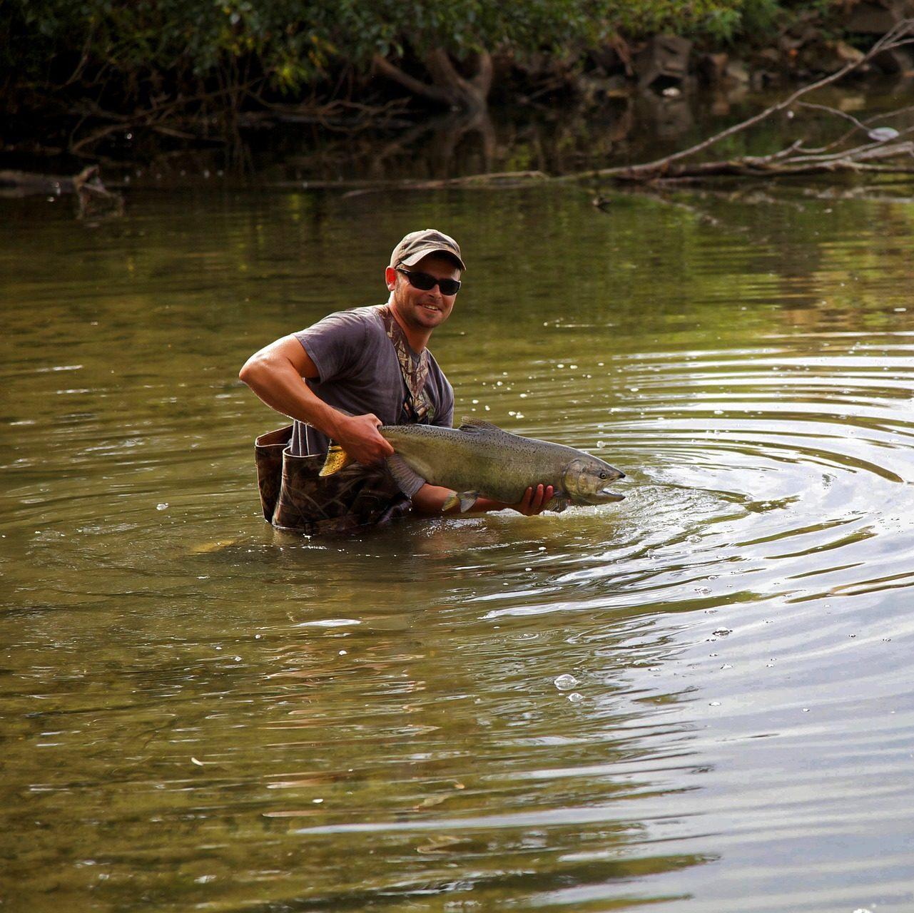 Poisson pêcher dans la dordogne près d'argentât