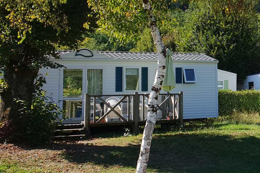 mobile home location corrèze camping echo malpas