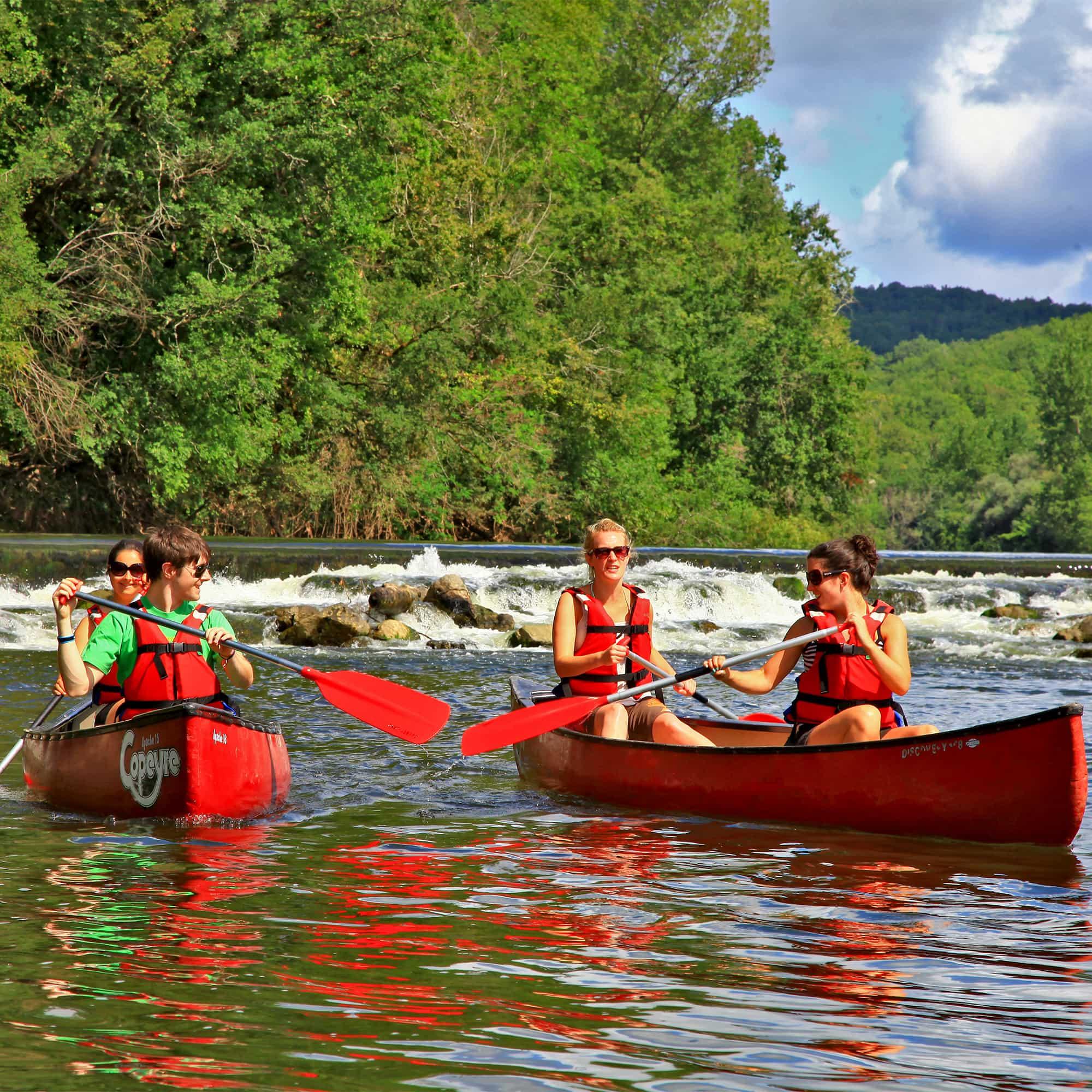 activité canoe dordogne Corrèze malpas vacances camping