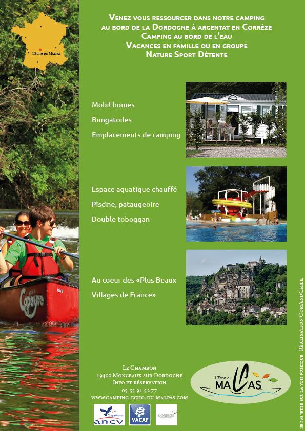 brochure camping echo malpas correze